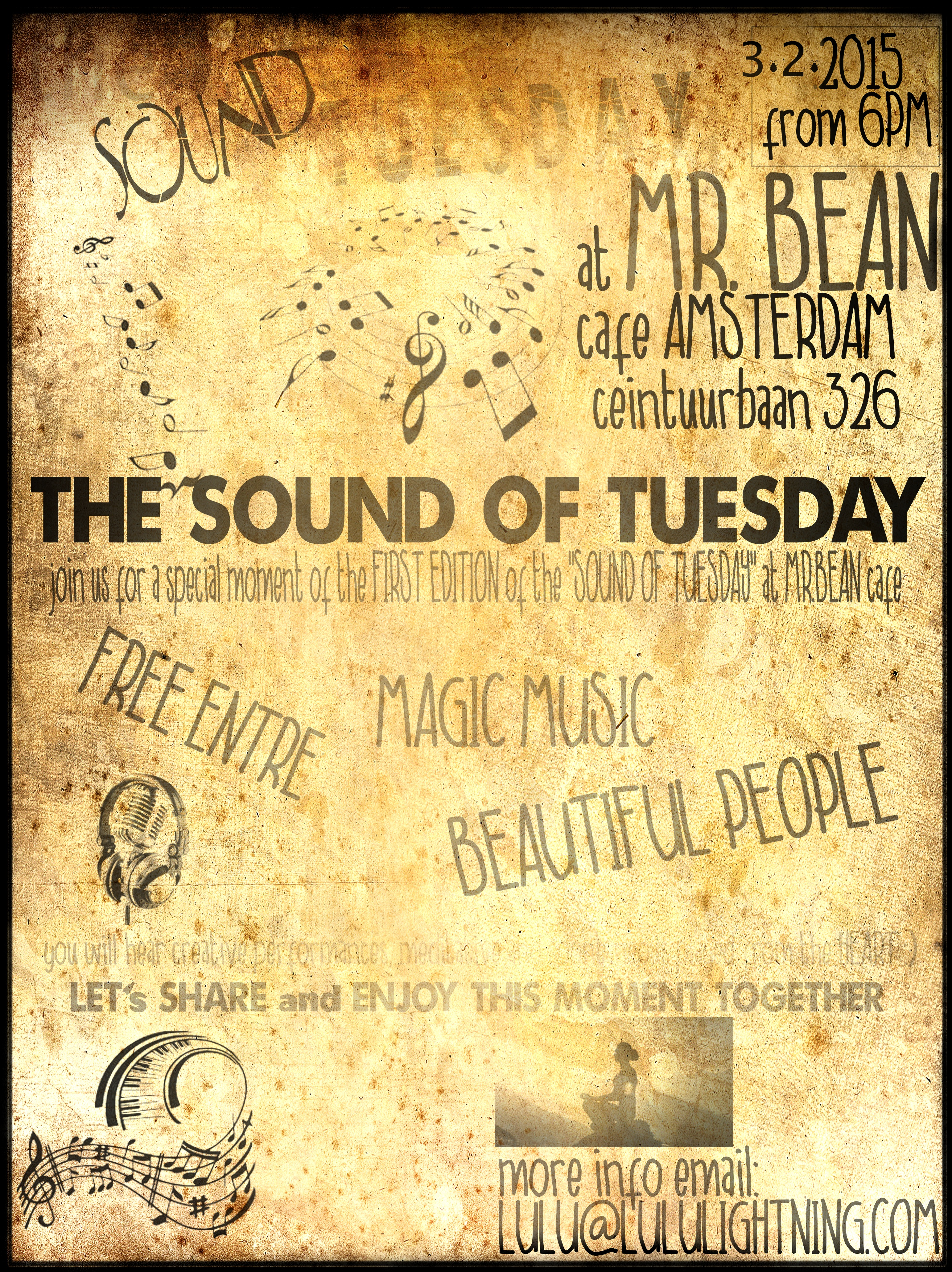 the Sound Of Tueaday at Mr Bean Cafe Amsterdam with Xenia and Violinna - meditative improvisation